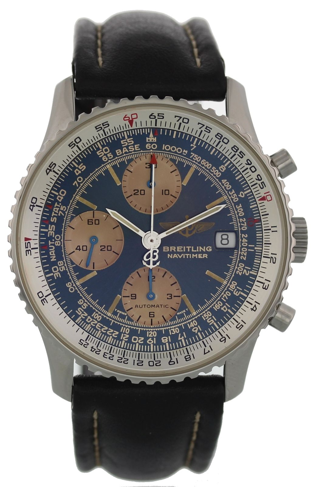 """Image of """"Breitling Navitimer II A13022 Stainless Steel & Leather Automatic"""""""