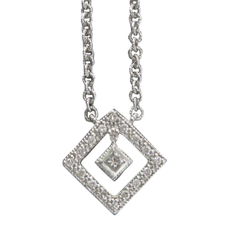 "Image of ""Philippe Charriol 18K White Gold and Diamond Necklace"""