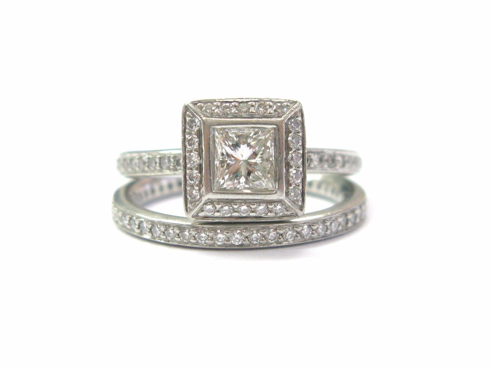 "Image of ""Ritani Platinum with 1.05ct Diamond Ring Size 5"""