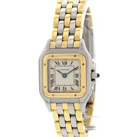 Cartier Panthere 1057917C 18K Yellow Gold/Stainless Steel Quartz 22mm Womens Watch