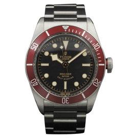 Tudor Black Bay 79220 Stainless Steel Red Bezel Bracelet & Nato 41mm Mens Watch