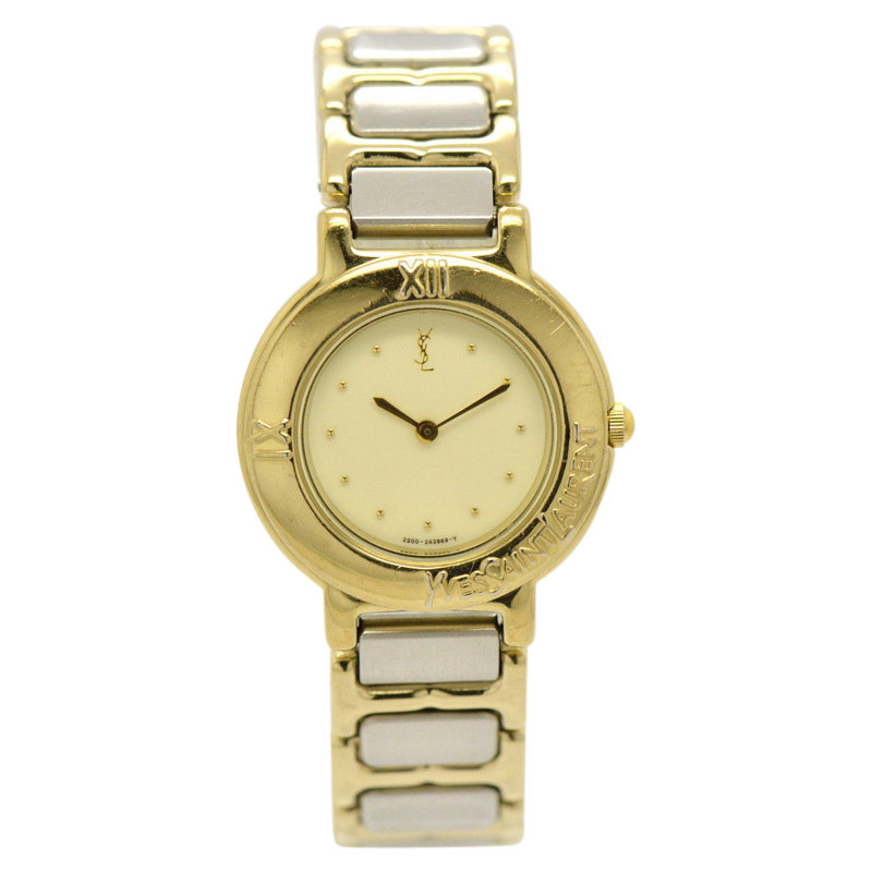 "Image of ""Yves Saint Laurent 2200-229789Y Gold Plated and Stainless Steel Quartz"""