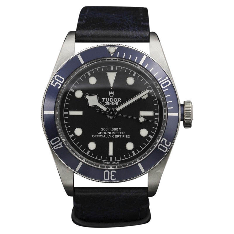"Image of ""Tudor 7923 Black Bay Stainless Steel Blue Strap 41mm Mens Watch"""