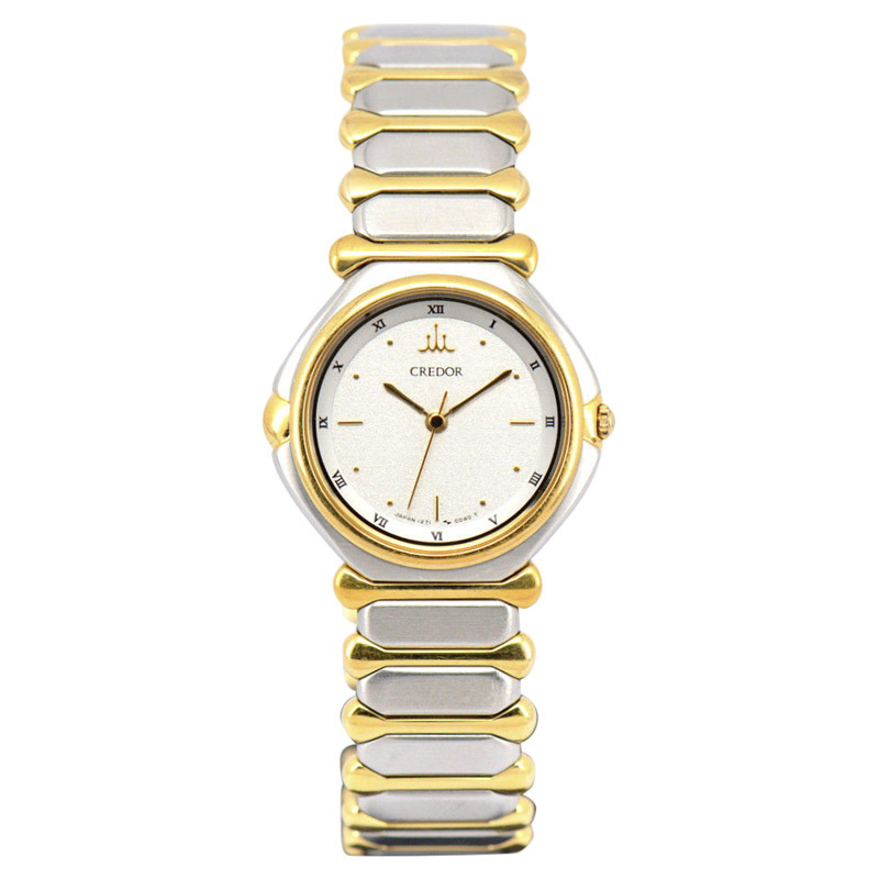 """Image of """"Seiko Credor 1271-0030 Stainless Steel / Gold Plated 24mm Womens Watch"""""""