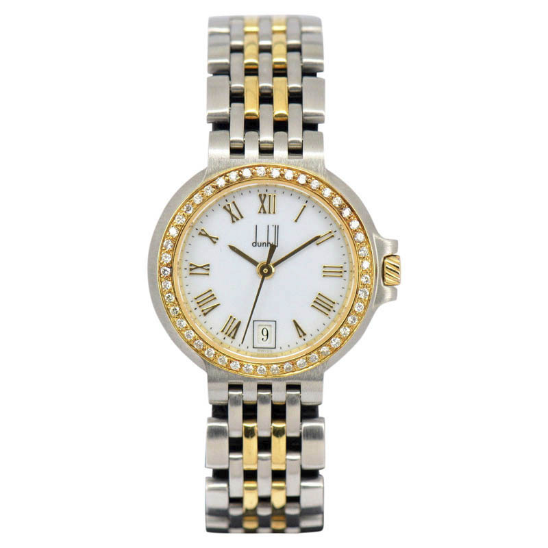 "Image of ""Dunhill Elite 18K Yellow Gold / Stainless Steel 26mm Womens Watch"""
