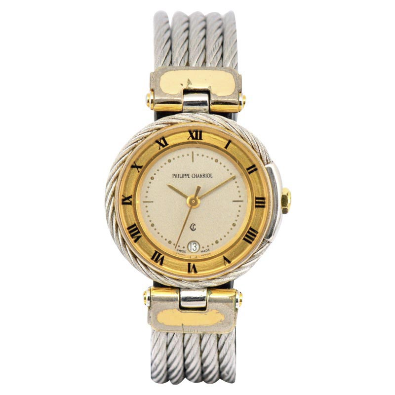 """Image of """"Philippe Charriol Celtic Stainless & Gold Plated Quartz 26.5mm Womens"""""""