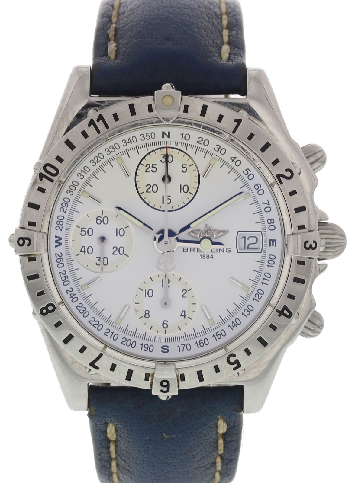"""Image of """"Breitling Chronomat Longitude A20048 Stainless Steel Automatic 38mm"""""""