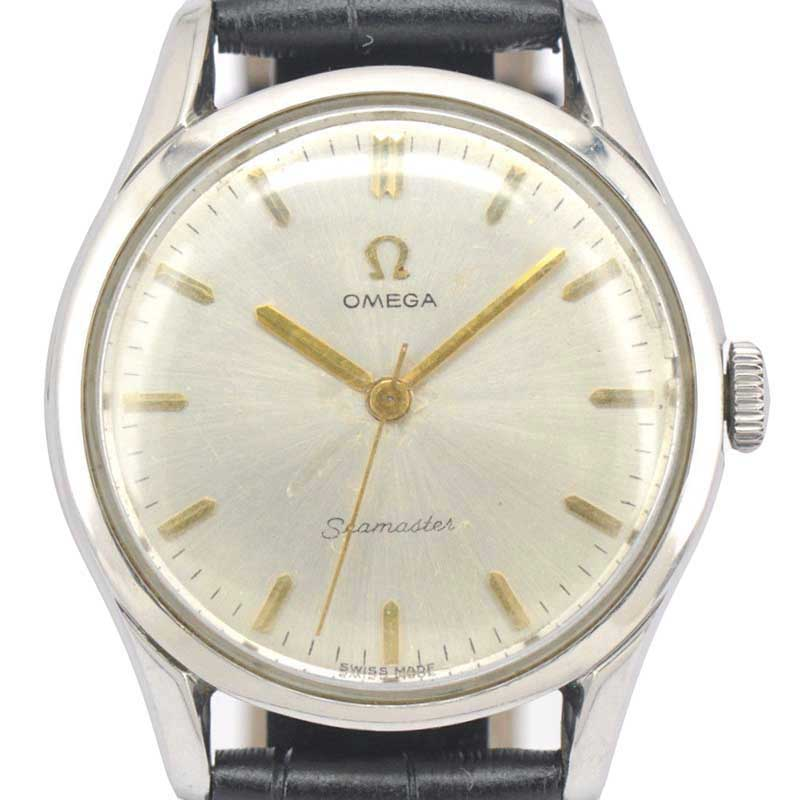 "Image of ""Omega Seamaster Stainless Steel / Leather Manual Vintage 36mm Mens"""