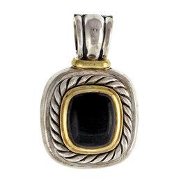 David Yurman Sterling Silver & 14K Yellow Gold Black Onyx Albion Pendant