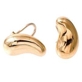 Tiffany & Co. Peretti 18K Yellow Gold Clip Post Bean Earrings