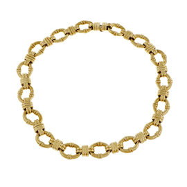 Tiffany & Co. 18K Yellow Gold Link Necklace
