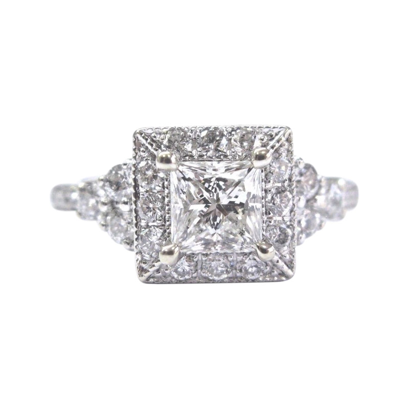 "Image of ""Neil Lane 14K White Gold with Diamond Engagement Ring Size 4.5"""