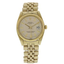 Rolex Date 1503 14K Yellow Gold Automatic Vintage 34mm Mens Watch
