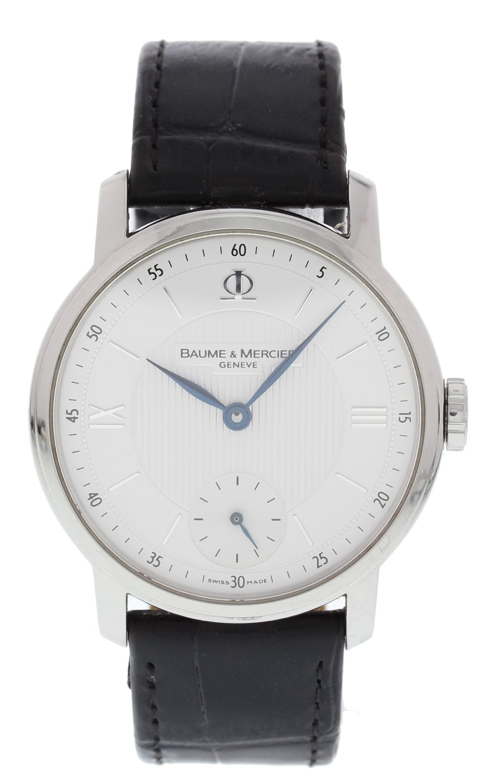 "Image of ""Baume & Mercier Classima 16498 Stainless Steel & Leather Manual 39mm"""
