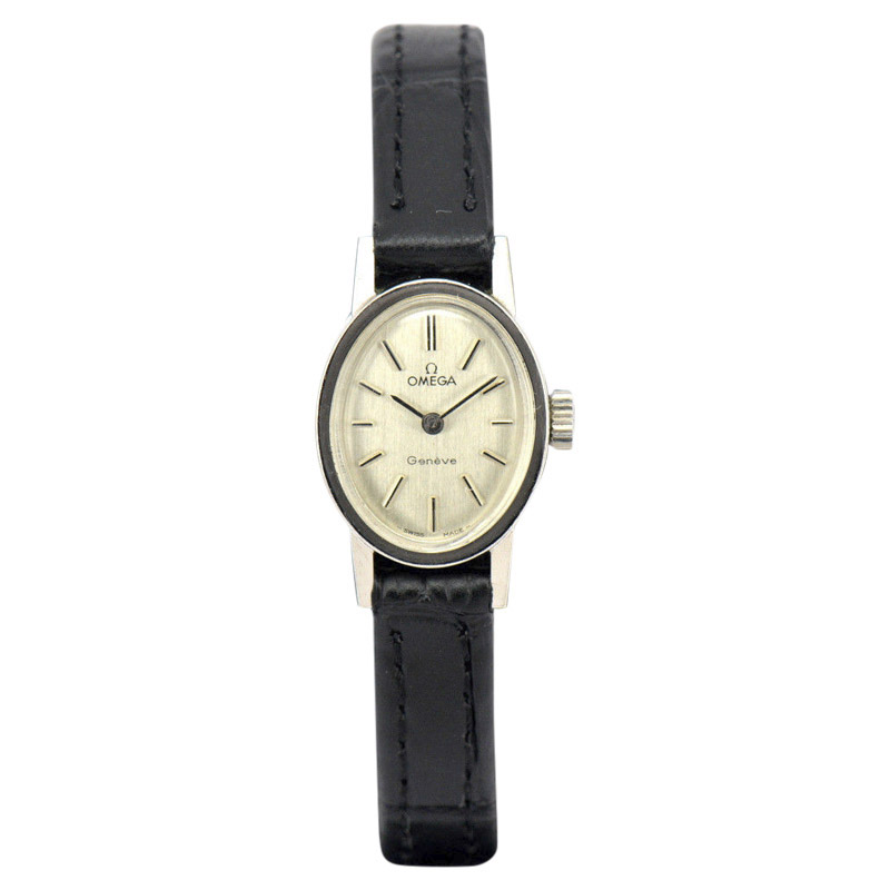 "Image of ""Omega Geneve Hand-Winding Stainless Steel 16mm Womens Watch"""
