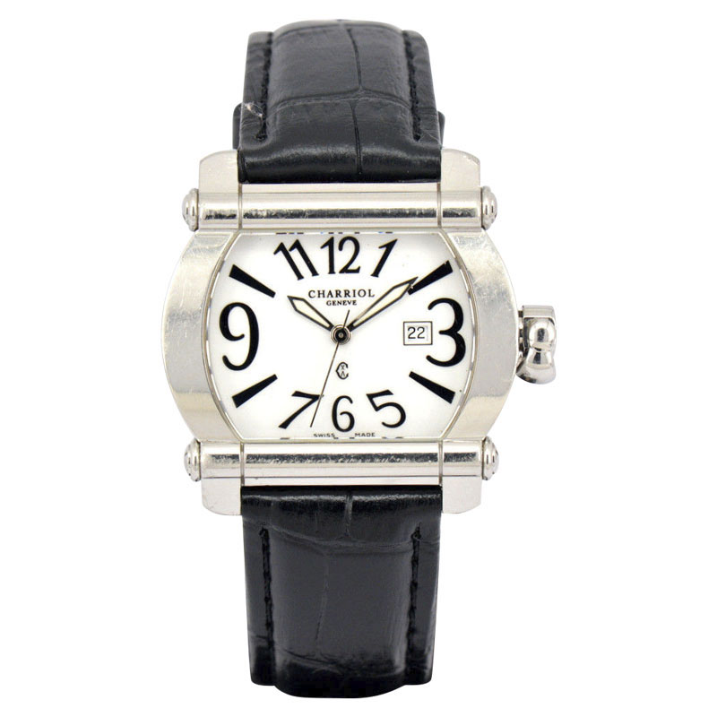 """Image of """"Charriol Actor Cchtl Stainless Steel White Dial Date Quartz 35mm"""""""