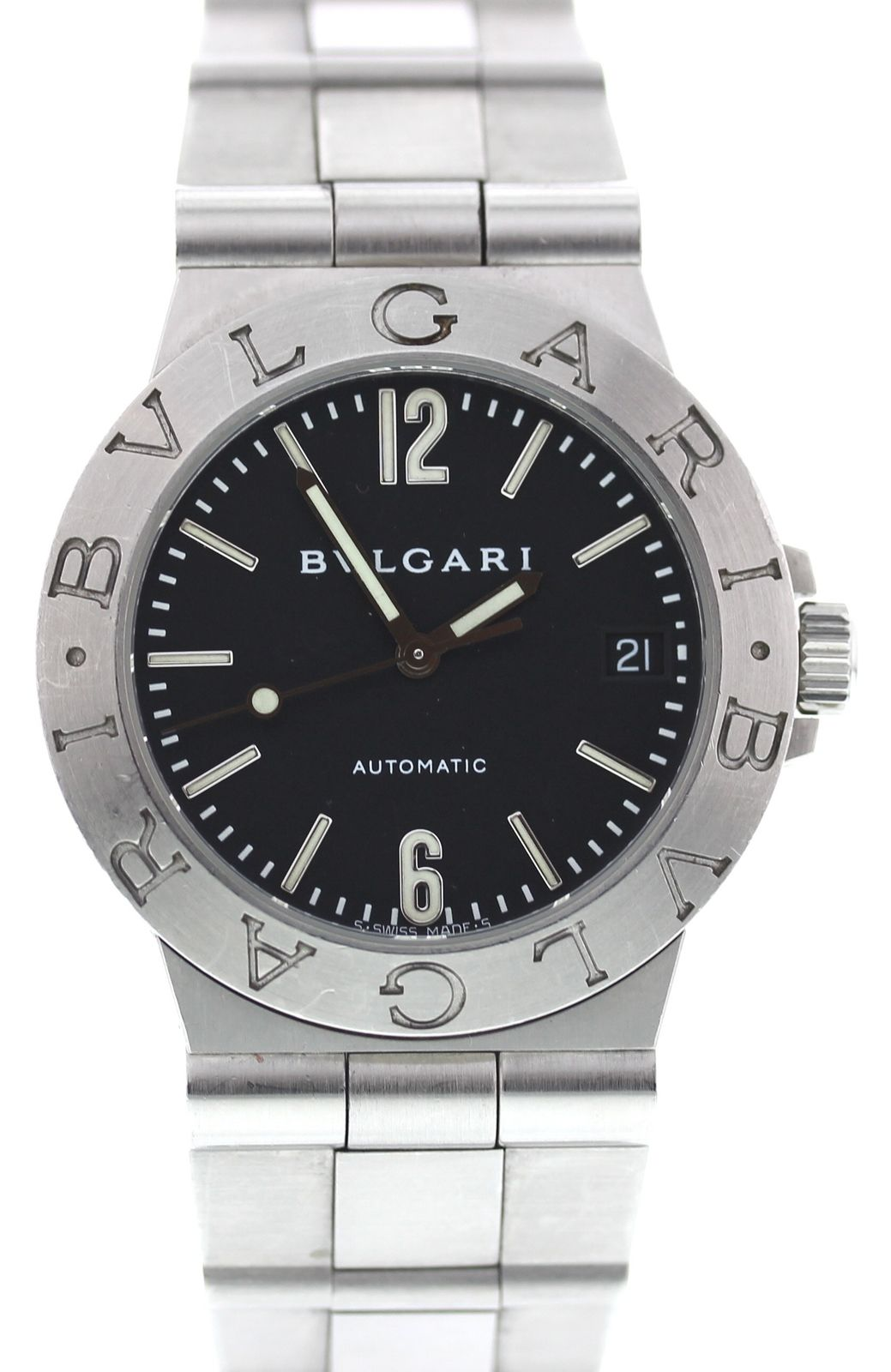 """Image of """"Bulgari Diagono LCV 35 S Stainless Steel Automatic 35.5mm Mens Watch"""""""