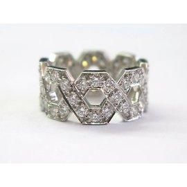 Tiffany & Co. Platinum Hexagon 1.20ct Diamond Ring Size 4.5
