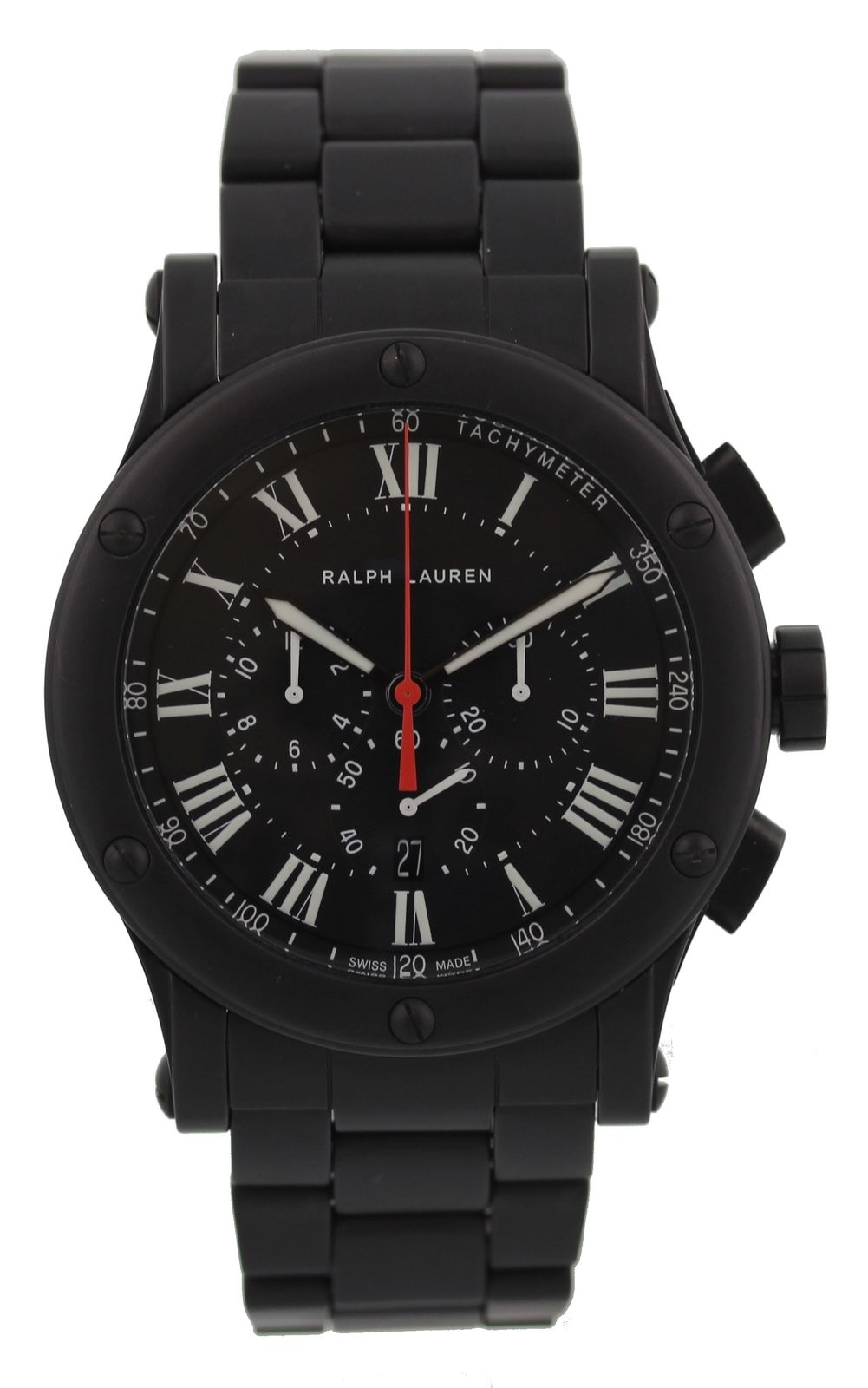 "Image of ""Ralph Lauren Sporting R0236600 Chronograph Black Matte Ceramic 45mm"""
