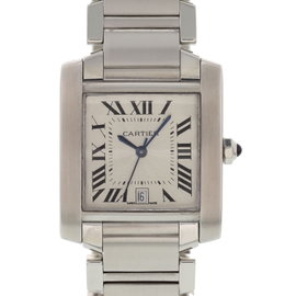 Cartier Tank Francaise 2302 Stainless Steel Automatic 28mm Mens Watch