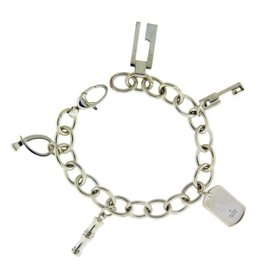 Gucci 925 Sterling Silver Charm Bracelet