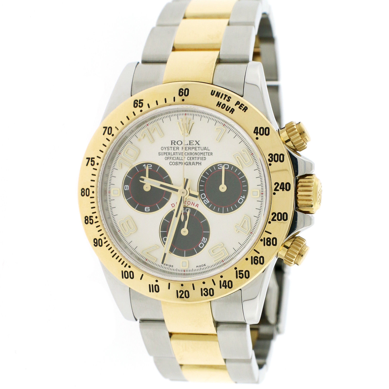 "Image of ""Rolex Daytona 116523 18K Yellow Gold / Stainless Steel Automatic 40mm"""