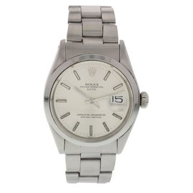 Rolex Date 1500 Stainless Steel Silver Dial Automatic 34mm Mens Watch
