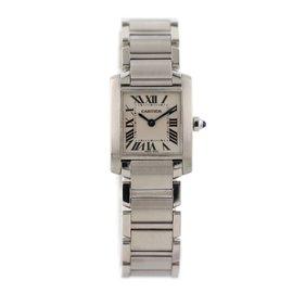 Cartier Tank Francaise 2384 Stainless Steel Quartz 20mm Womens Watch
