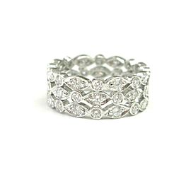 Tiffany & Co. Platinum Swing 1.40ct. Diamond Ring Size 4.5