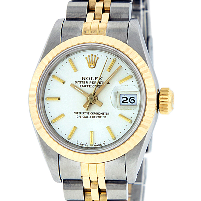 "Image of ""Rolex Datejust Stainless Steel and 18K Yellow Gold White Dial 26mm"""