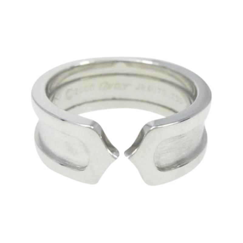 "Image of ""Cartier 18K White Gold C2 Small Ring Size 4.5"""