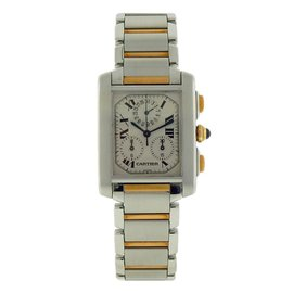 Cartier Tank Francaise 2303 W51004Q4 Stainless Steel & Yellow Gold Quartz 28mm Unisex Watch