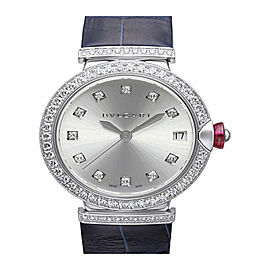 Bulgari Lucea 18K White Gold Diamonds Date Ladies watch LUW33C6GDLD/11