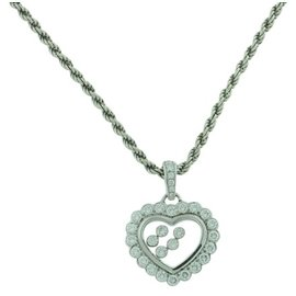 Chopard White Gold Diamond Womens Necklace