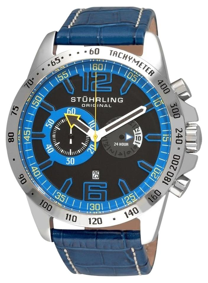 "Image of ""Stuhrling Concorso Laureate 210B.3315C81 Stainless Steel & Leather"""