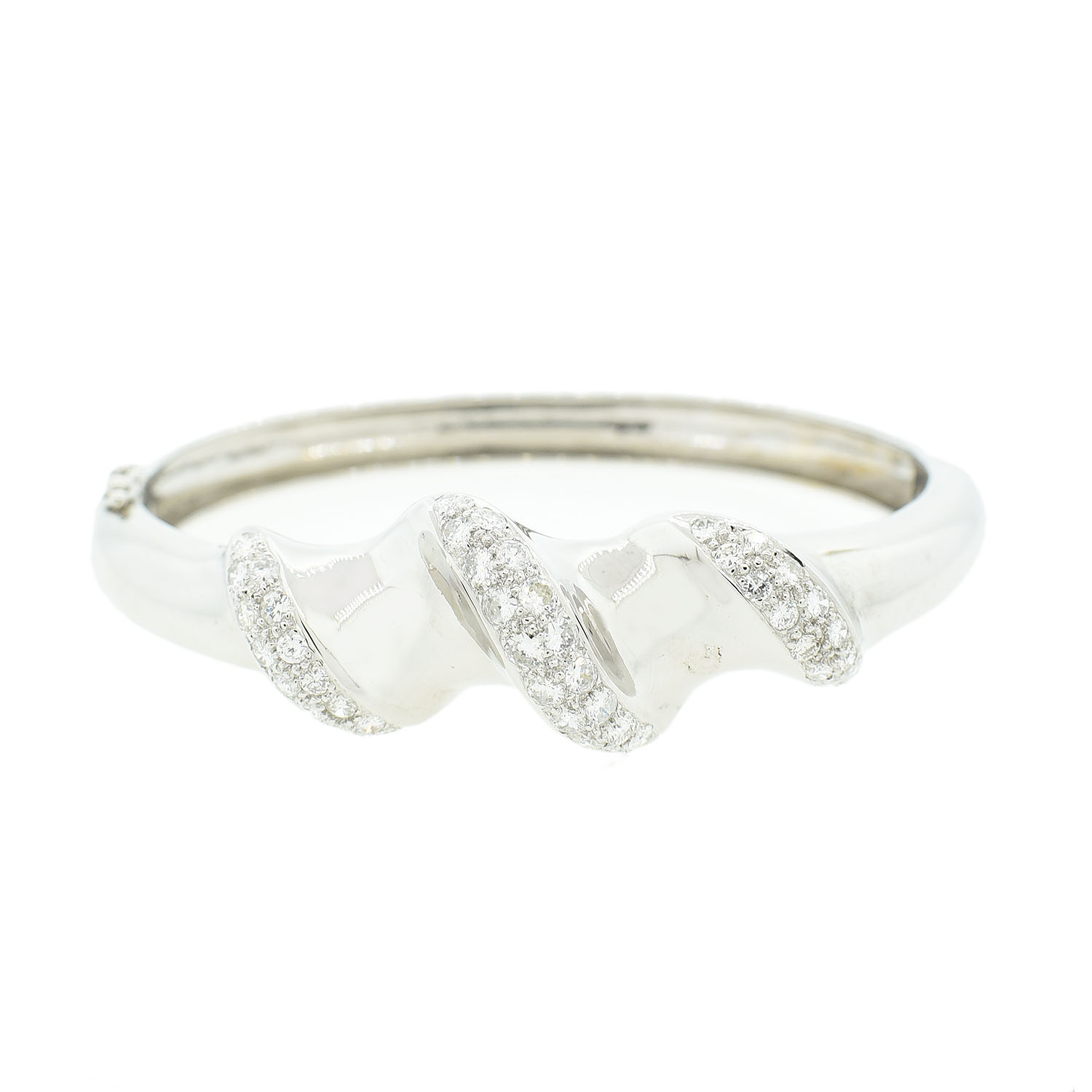 "Image of ""14Kt White Gold Diamond Bangle Bracelet"""