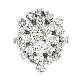 14K White Gold Diamond Cluster Ring