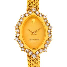 Audemars Piguet Vintage 18k Yellow Gold 1.67 Ct Diamond Cocktail Watch
