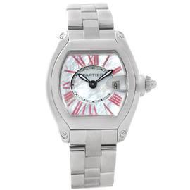 Cartier Roadster W6206006 Mother of Pearl Dial Steel Ladies Watch