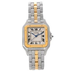 Cartier Panthere W25028B5 Large Steel 18K Yellow Gold Watch