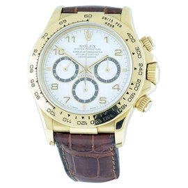Rolex Daytona Zenith El Primero 18K Yellow Gold 40mm Mens Watch