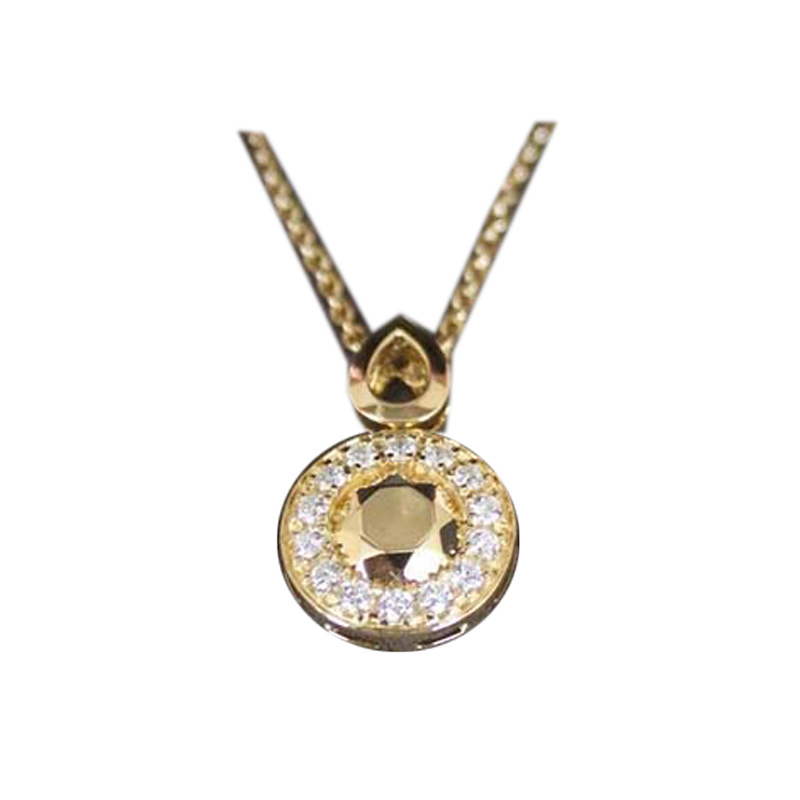 "Image of ""Carrera y Carrera 18K Gold and Diamond Pendant Necklace"""