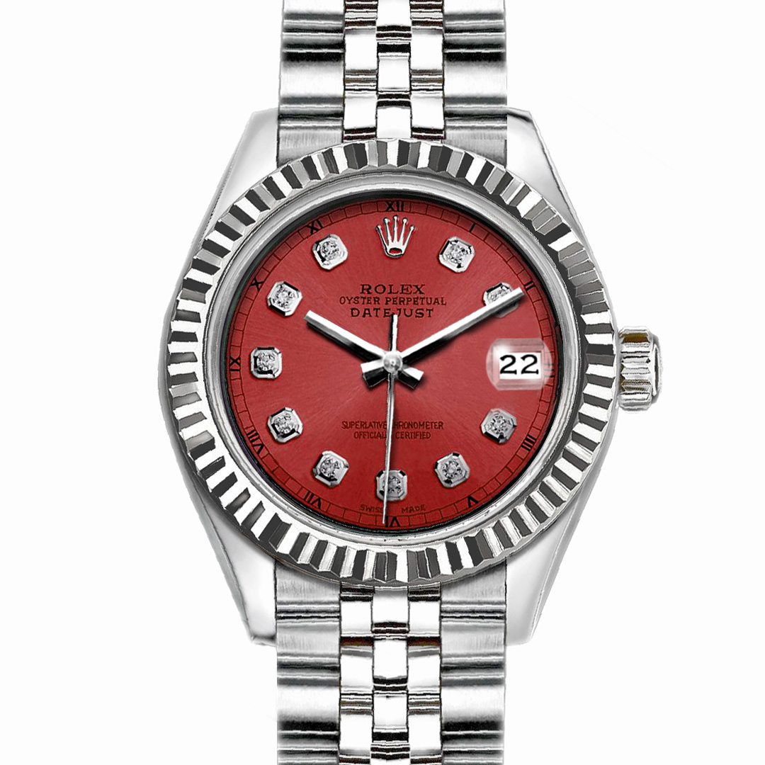 """Image of """"Rolex Datejust Stainless Steel with Salmon Dial 26mm Womens Watch"""""""