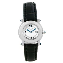 Chopard 27/8245-23 Happy Sport White Dial Floating Diamond Watch
