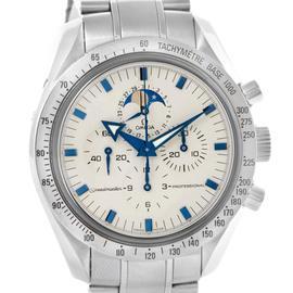 Omega Speedmaster MoonPhase Blue Broad Arrow Hands 3575.20.00 Watch
