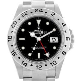 Rolex 16570 Explorer II Parachrom Hairspring Steel Black Dial Watch