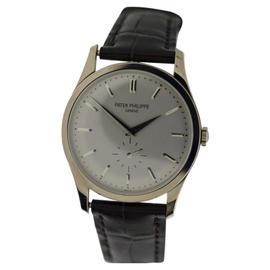 Patek Philippe Calatrava 5196G 18K White Gold 37mm Mens Watch