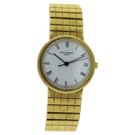 Patek Philippe Calatrava 3802/1J 18K Yellow Gold 33mm Mens Watch