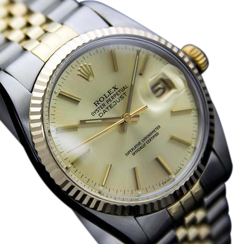 "Image of ""Rolex 16013 Oyster Quickset Solid Gold & Stainless Steel Automatic"""