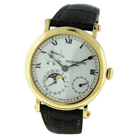 Patek Philippe Power Reserve 5054J Moonphase 18K Yellow Gold 37mm Mens Watch